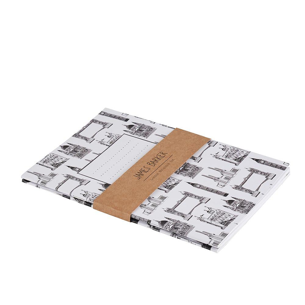 Luxury notebooks with illustrated London landmarks