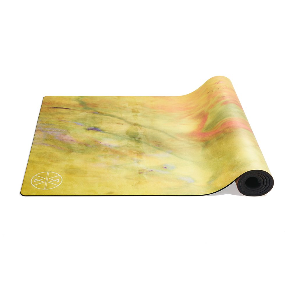 Luxury Yoga Mats - Pink and Yellow Design
