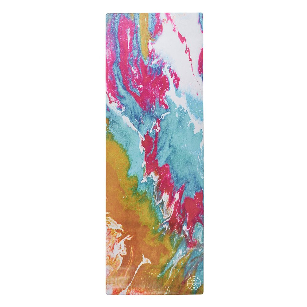Luxury Yoga Mats - Pink, Yellow, Turquoise Design