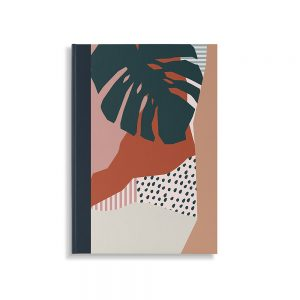 Leaf print luxury notebooks - Keeler and Sidaway