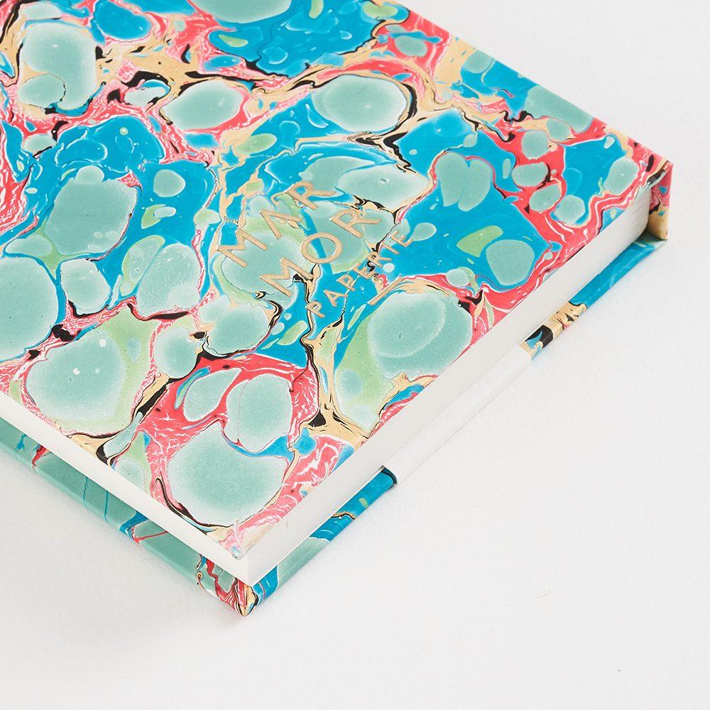 Luxury notebooks - handmade marbled alabone shell design