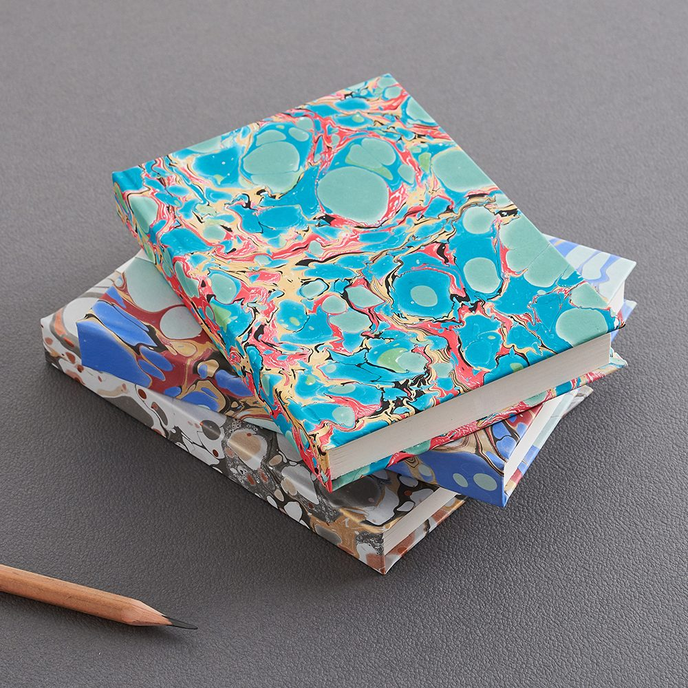 Luxury notebooks - handmade marbled alabone shell design