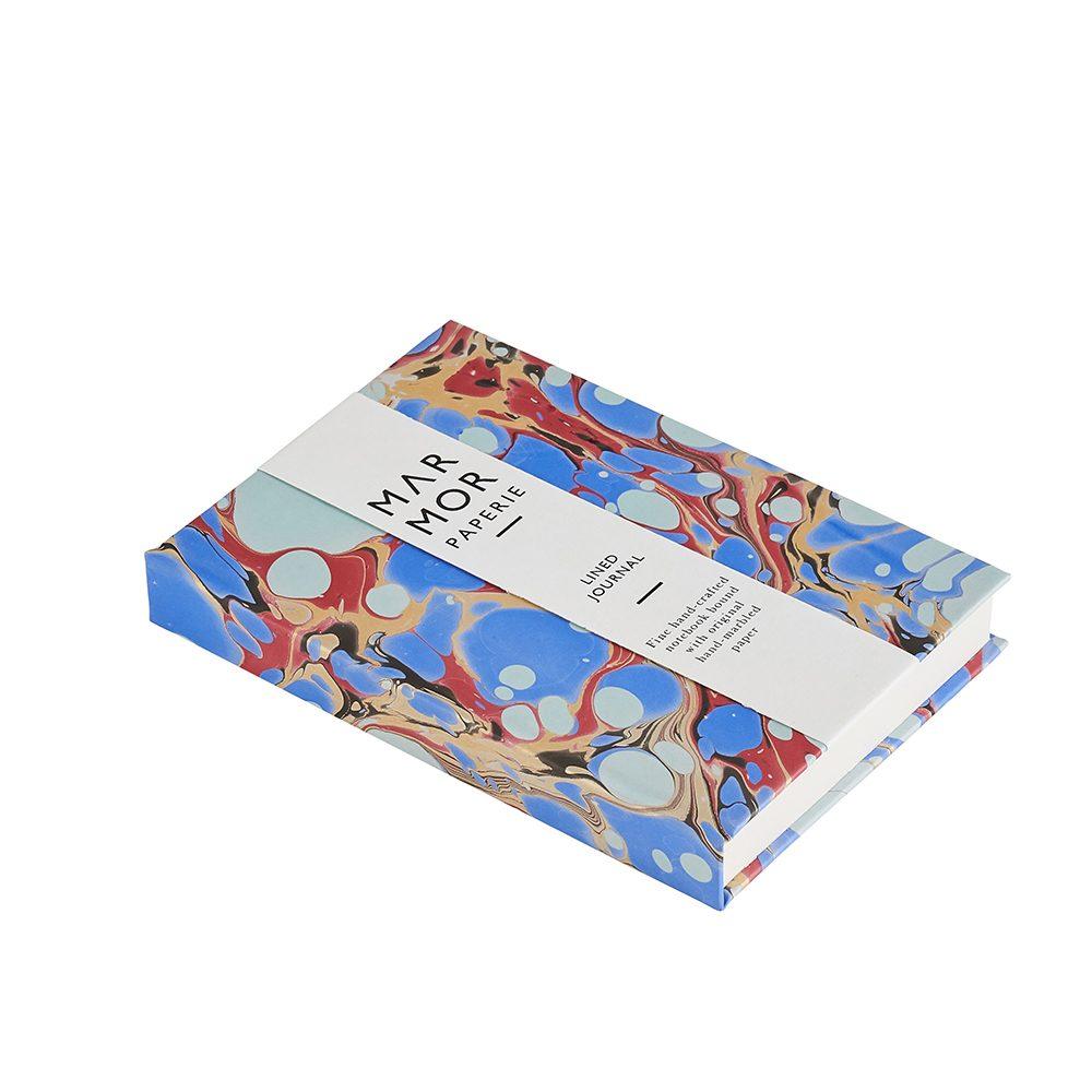 Luxury notebooks - handmade marbled stone indigo design