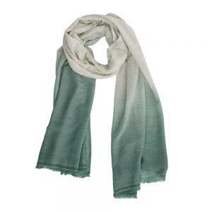 Luxury scarves mint dip dye