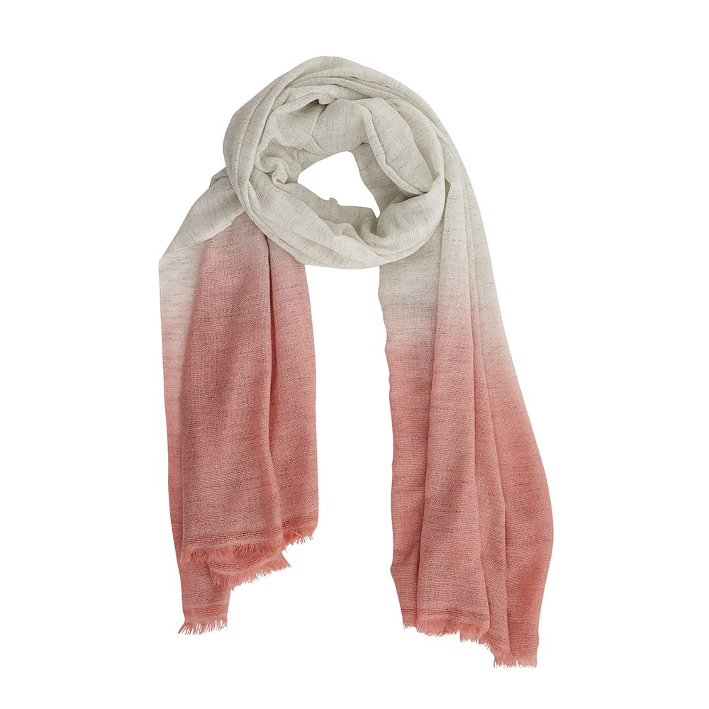 Luxury scarves pink dip dye