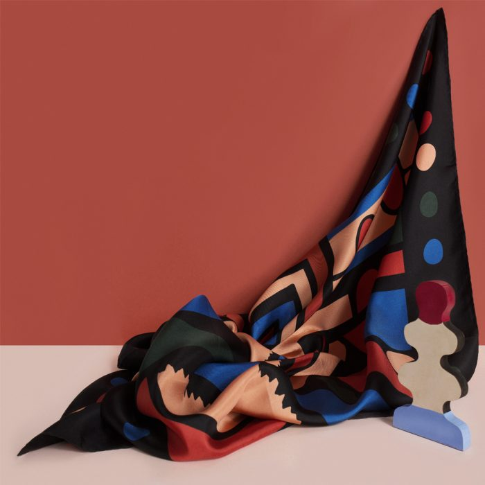 Silk luxury scarves - Dorris design