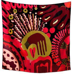 Silk luxury scarves - Lavinia design