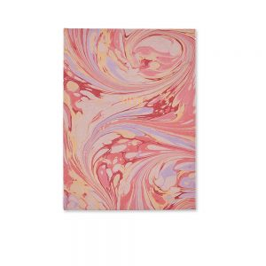 Luxury diaries - handmade marbled diary in pink