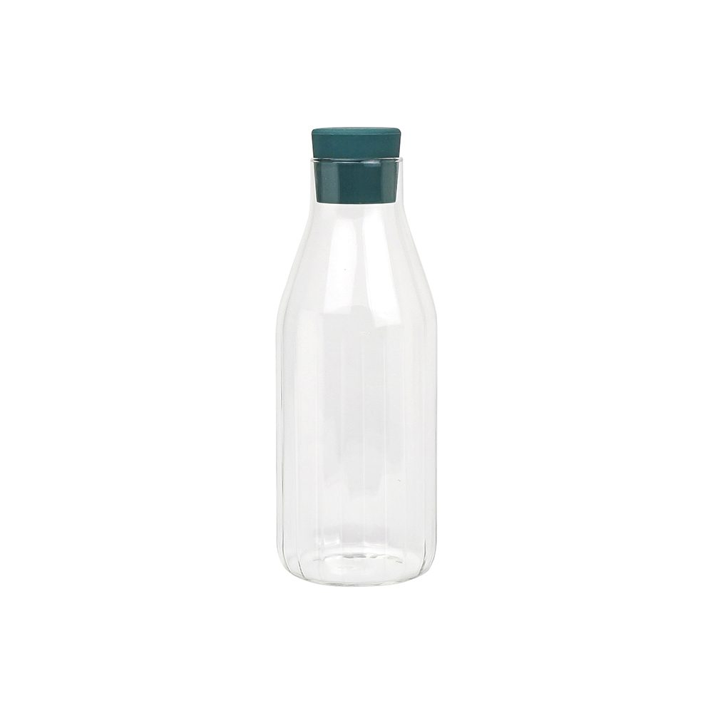 Modern tableware - glass carafe with stopper