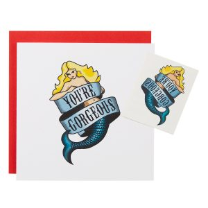 'You're Gorgeous' Tattoo Greetings Card