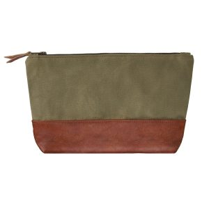 green brown washbag