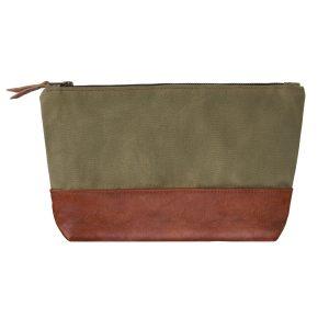 green brown washbag