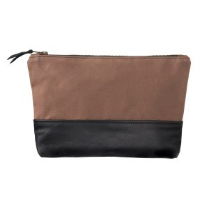 brown wash bag