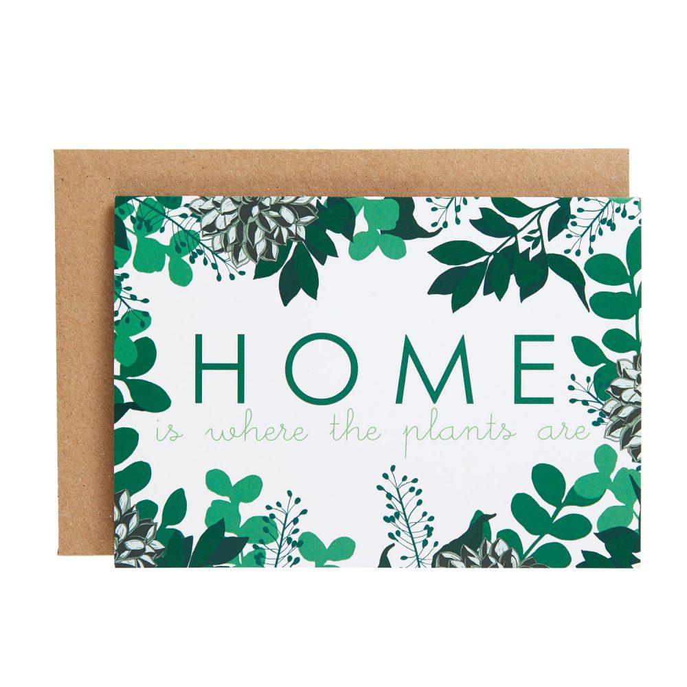 home plants card