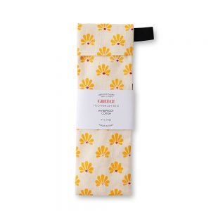 Fabric toothbrush bag with yellow flower design