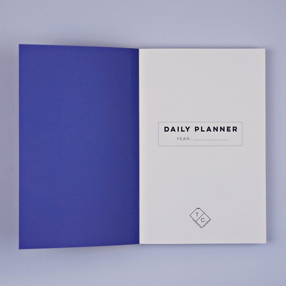 Luxury notebooks - overlay shapes no.1 planner, inside cover