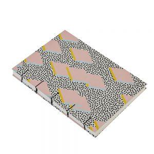 Pink Patterened A5 Handmade Sketchbook