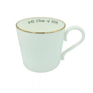 UAL graduation mug with 'Class of 2019' slogan