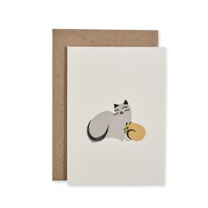 Quality greetings card with Kitty Snuggles design