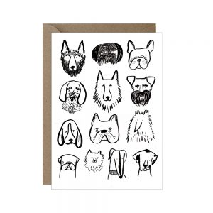 Quirky greeting card Dogs
