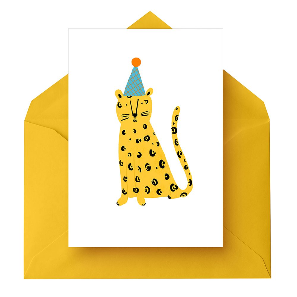 Quirky greeting cards Leopard