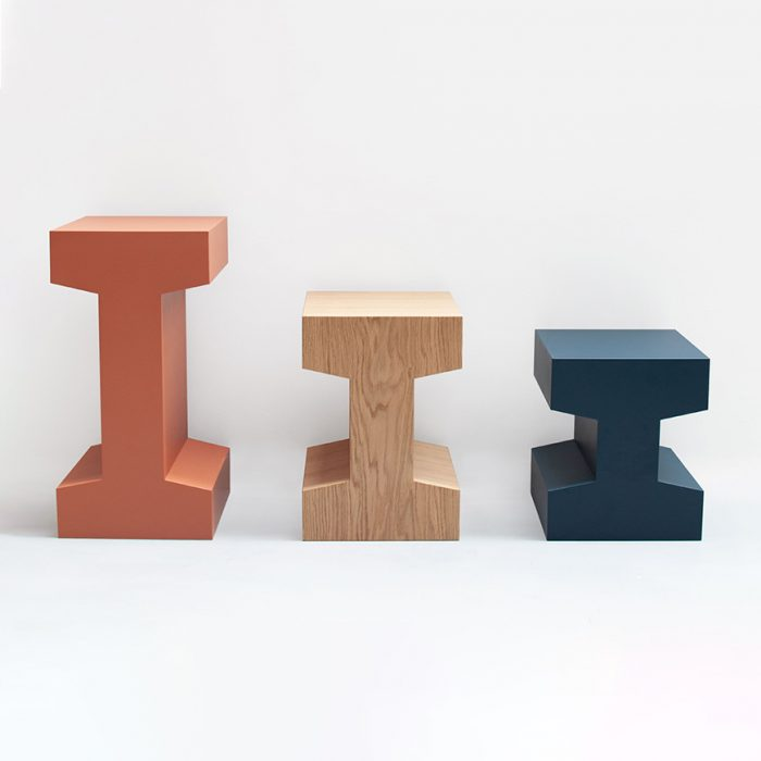 3 wooden modular furniture pieces