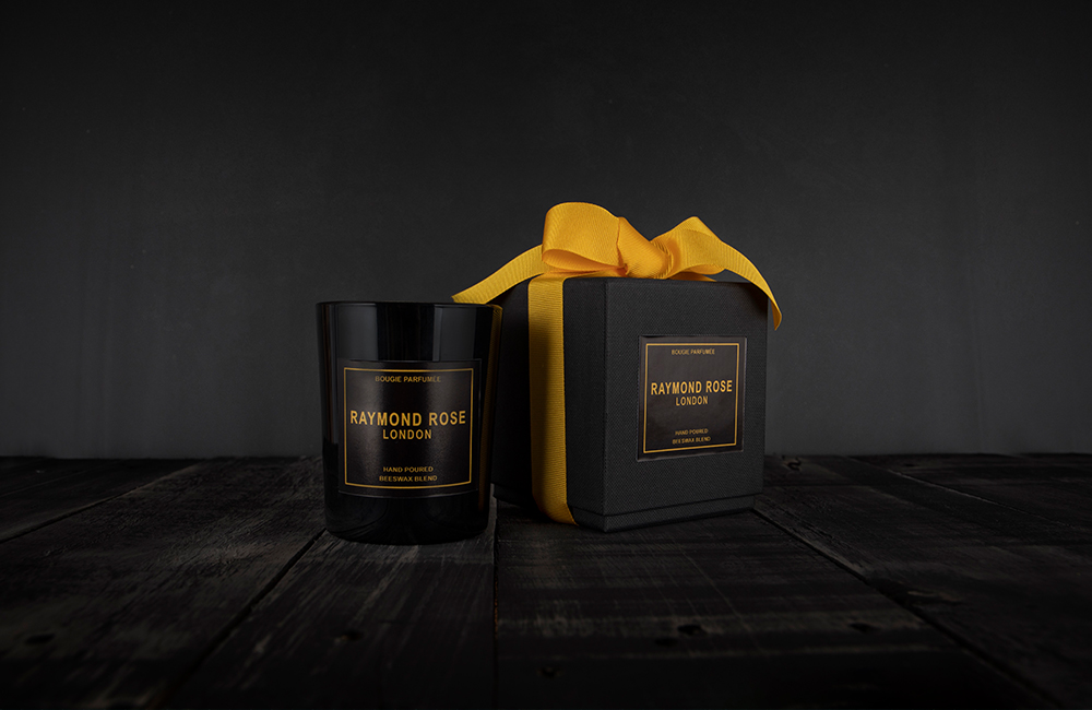 Candle in black jar with presentation box