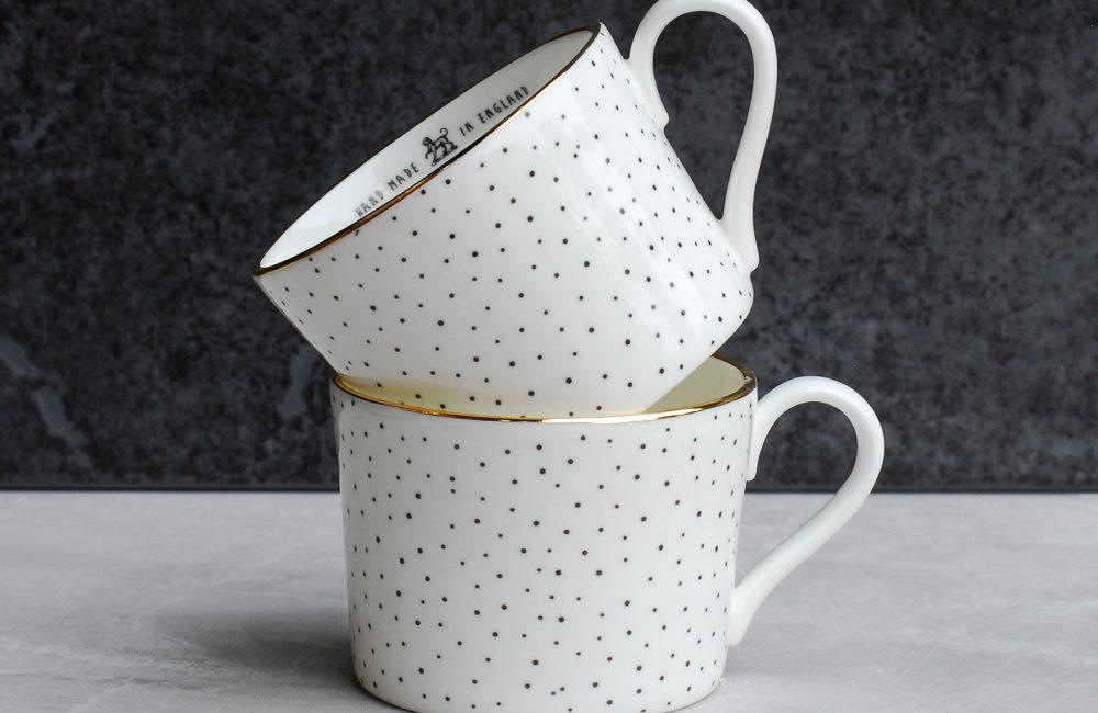 Two china espresso cups