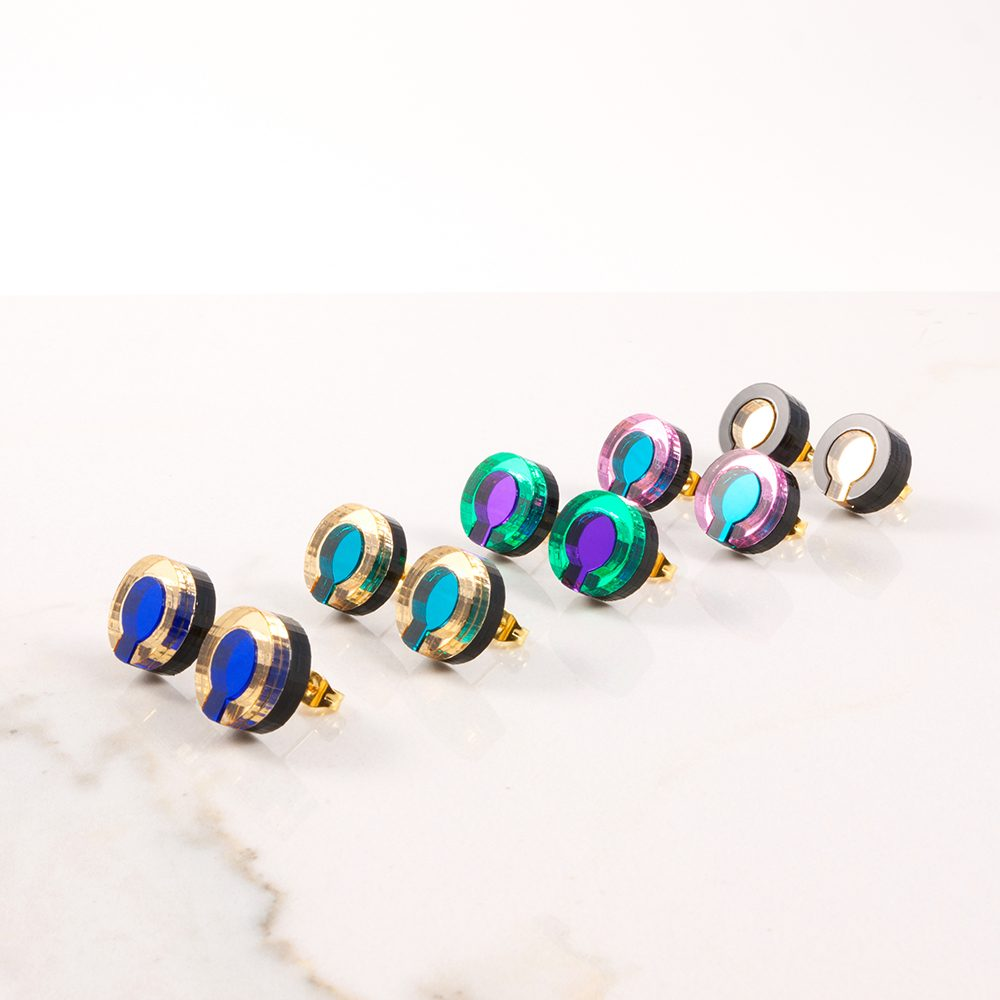 Statement earrings - Form 021 acrylic studs