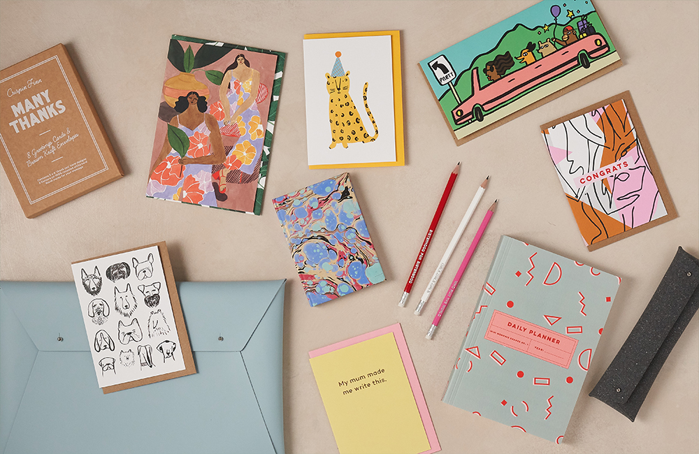Selection of stationery products