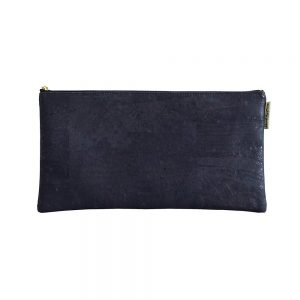 Sustainable cork leather case navy blue