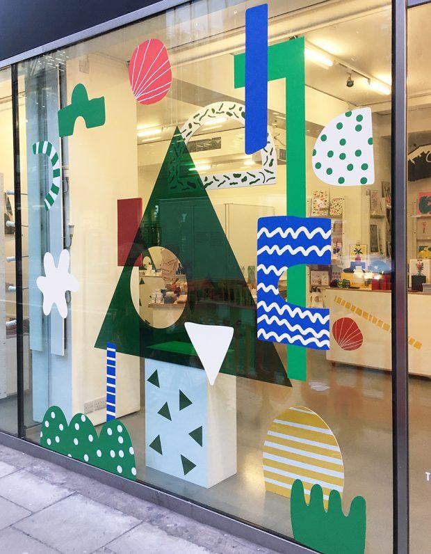 Christmas window by Teresa Rego