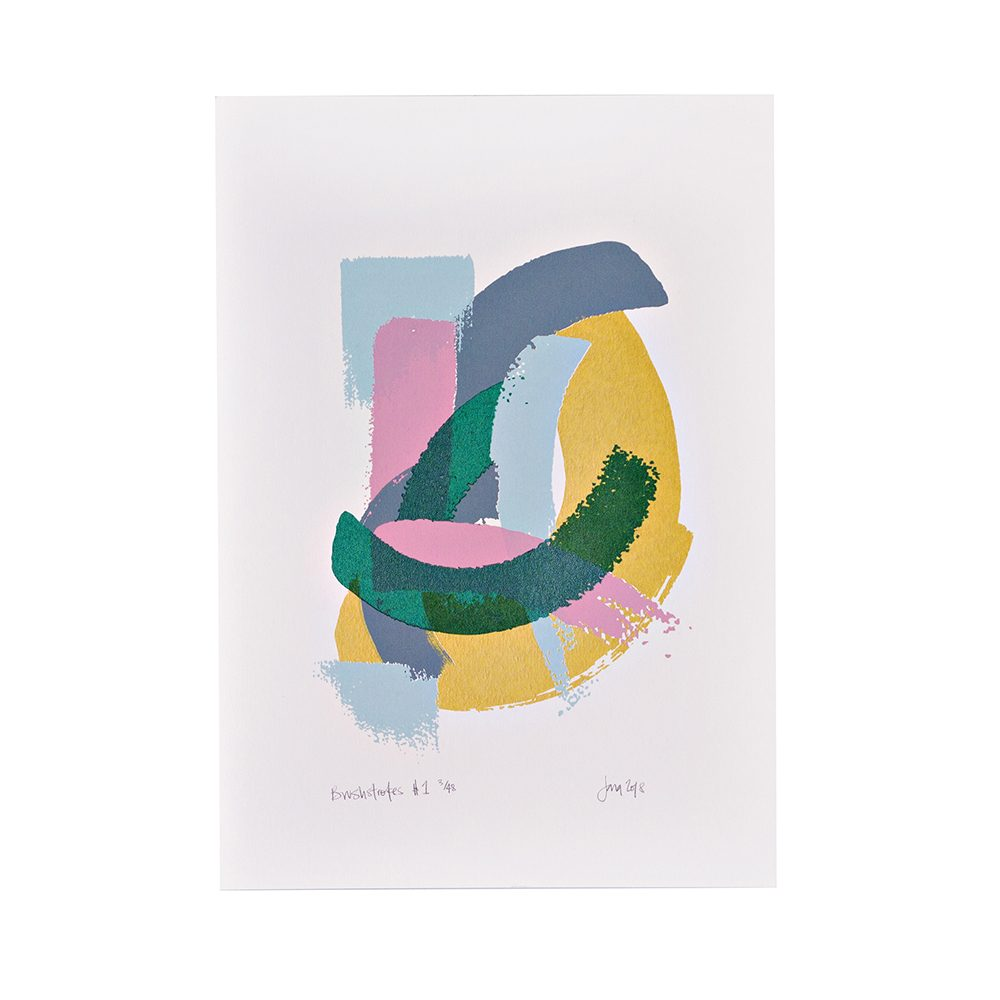 Limited edition art prints - abstract brushstrokes screenprint
