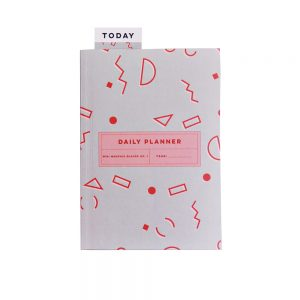 Luxury notebooks - grey and red planner