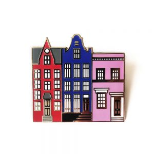 Enamel pin badges three houses
