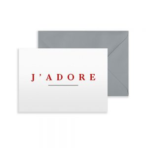 Greetings Card with J'Adore slogan