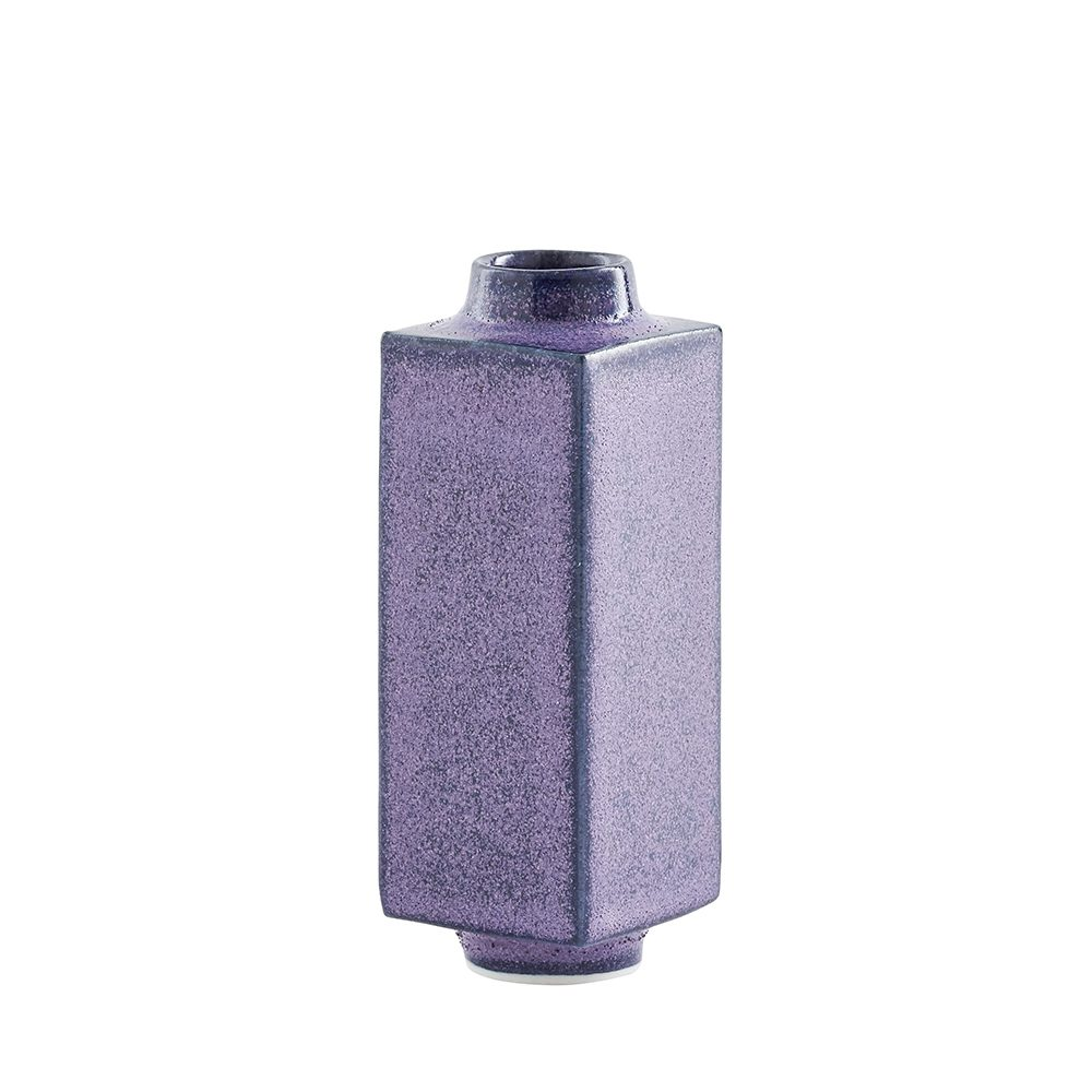 Designer homeware - miniature pot matt purple
