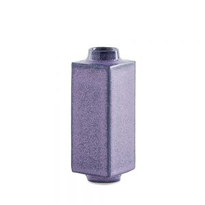 Designer homeware - miniature pot matt purple