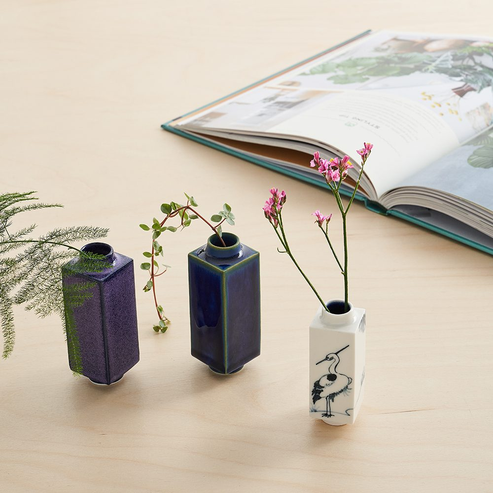 Designer homeware - group of miniature pots