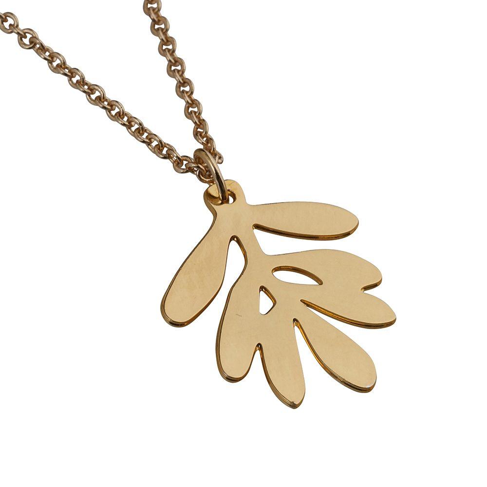 Unique Necklaces Gold Olive Leaf