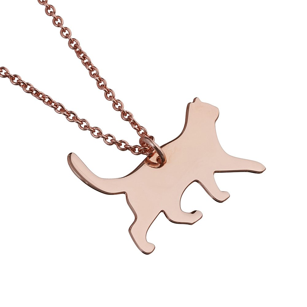 Unique Necklaces Rose Gold Cat
