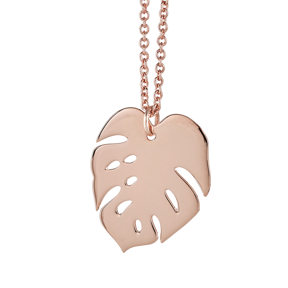 Cheese Plant Necklace Rose Gold Not Just A Shop