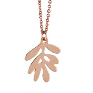 Unique Necklaces Rose Gold Olive Leaf