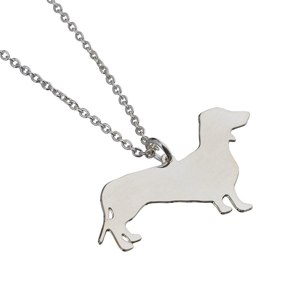 Unique Necklaces Silver Sausage Dog
