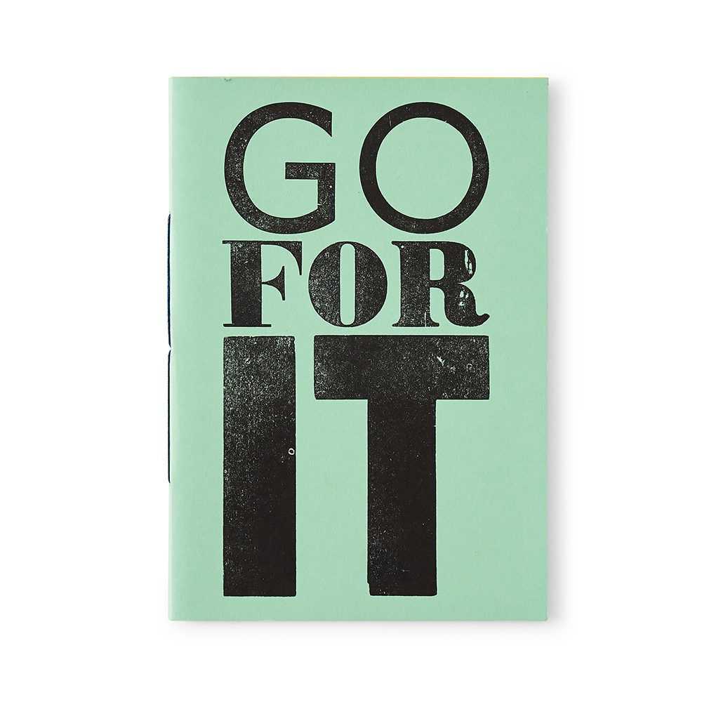 Unique stationery - handmade Go For It type notebook in green