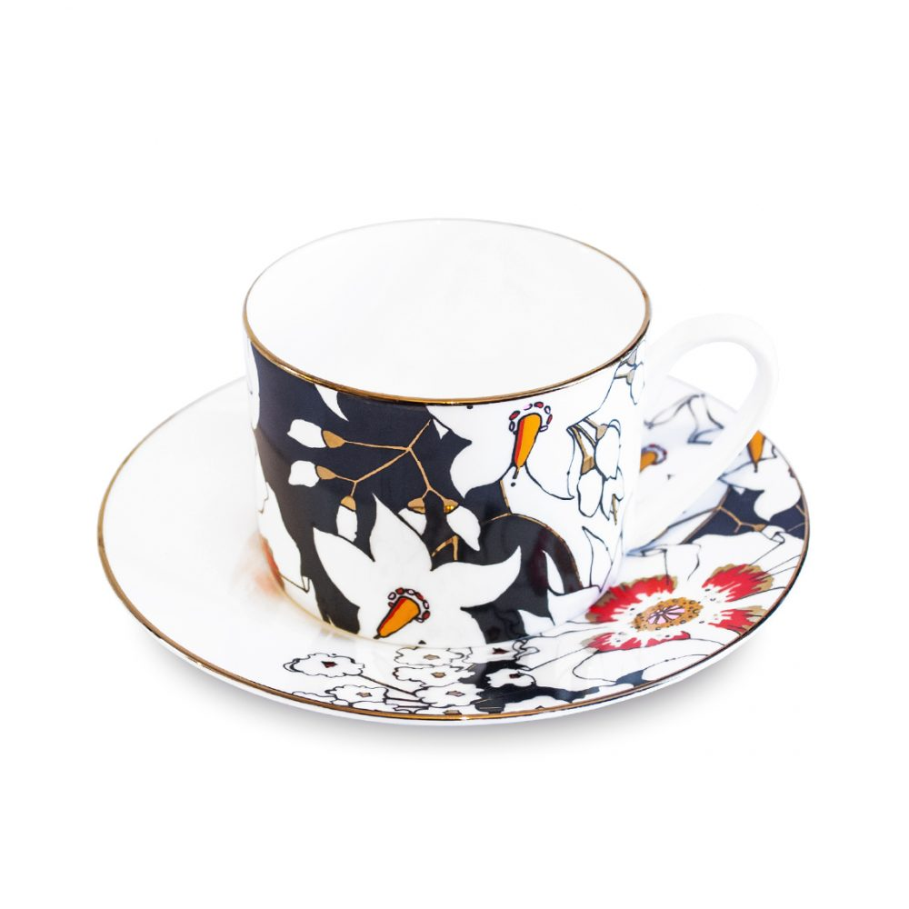 Unique tableware - deadly blooms cup and saucer