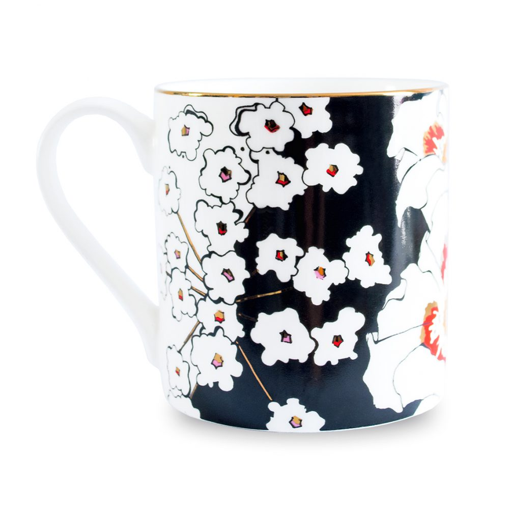 Unique tableware - deadly blooms mug