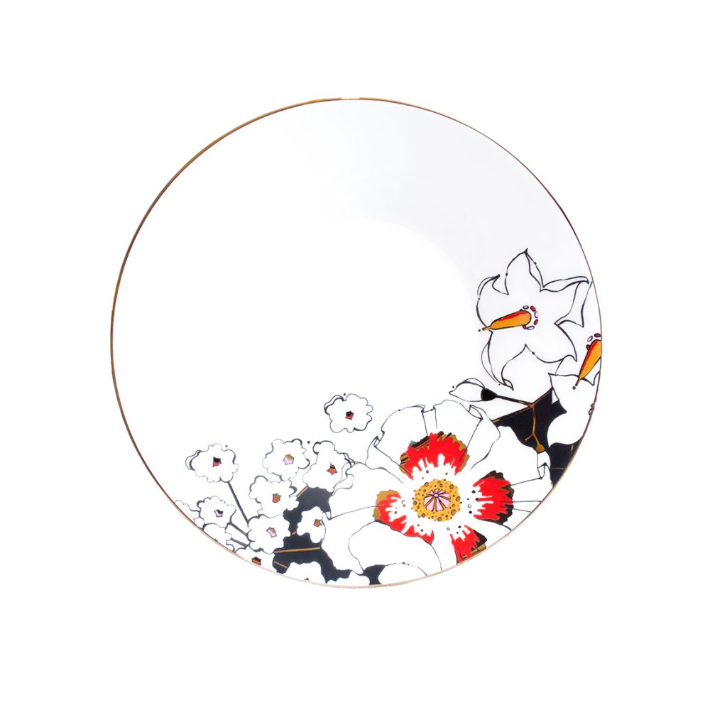 Unique tableware - deadly blooms saucer