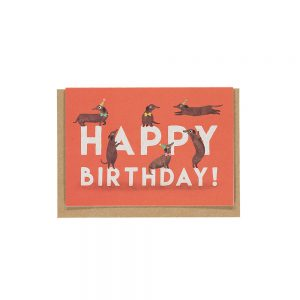 Unique greetings cards - sausage dogs happy birthday