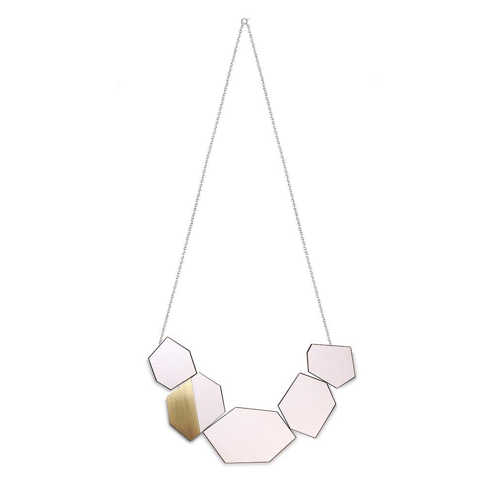 Ella pink formica unique necklaces